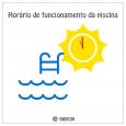 "O horário de funcionamento da piscina será alterado a partir do dia 1º de novembro, conforme regulamento interno: ""Número 5.1.1 – A área da piscina funcionará nos meses de novembro..."